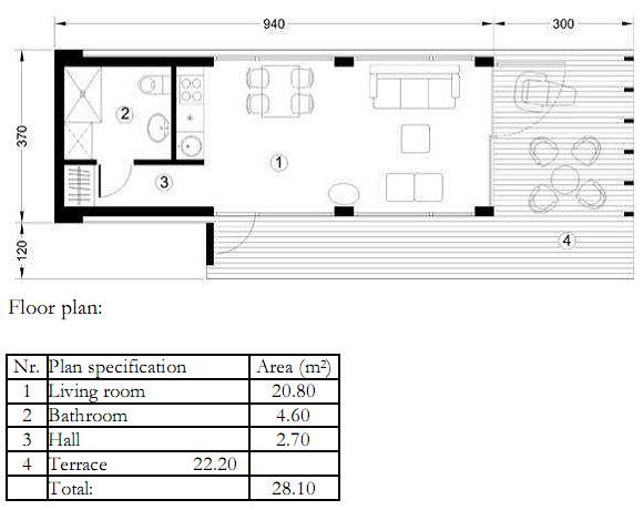 Mobile modular houses - Apis 1