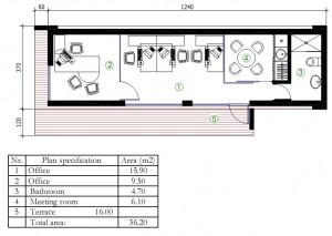 Mobile modular houses - Parus II